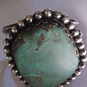 Sterling Silver & Turquoise Dead Pawn Bracelet