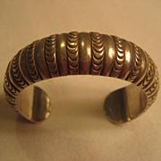 Sterling Silver Stamped Vintage Bracelet