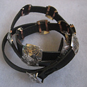 Sterling Silver Stamped Concho Belt/Hat Band