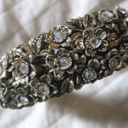 Celluloid & Rhinestone Vintage Bracelet