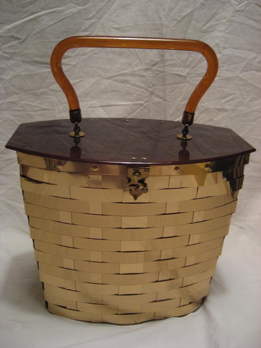 Lucite & Metal Weave Vintage Handbag