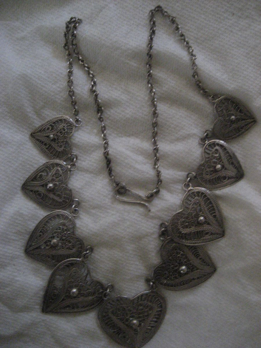 Sterling Silver Filagree Heart Necklace