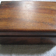 Koa Wood Hinge Jewelry Box - Red Tag Sale Item