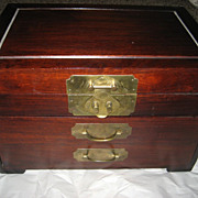 Three Drawer Vintage Wooden Storage Box