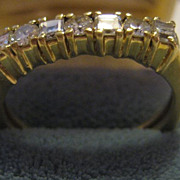 18K Gold & 7 Diamond Vintage Ring