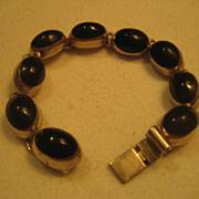 Sterling Silver & Jet Vintage Bracelet