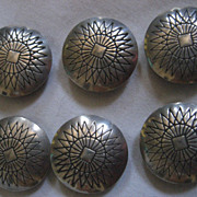 Stamped Sterling Silver Button Covers