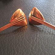 Renoir Vintage Copper Mandolin Earrings