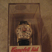 Campbell Kid Wind Up Vintage Watch In Box