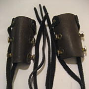 Leather Hair Braid Barretes