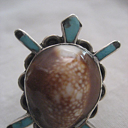 Sterling Silver Turtle Shell Vintage Ring