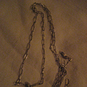 Sterling Silver Vintage Crucifix Necklace