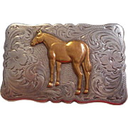 Sterling Silver Vintage Diablo Belt Buckle