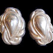 Sterling Silver Vintage Clip Earrings