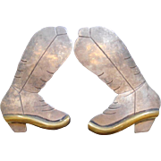Sterling Silver Vintage Cowboy Boots Earrings