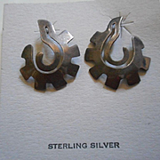 Sterling Silver Vintage Cut Out Earrings