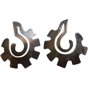 Sterling Silver Vintage Cut Out Earrings
