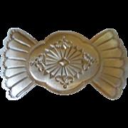 Stamped Nickel Silver Hair Clip
