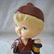 Vintage Nodder Monk Doll