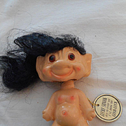 Troll Vintage Ceramic 'Lucky' Doll With Tag