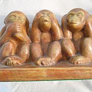 Hear No Evil See No Evil Ceramic Monkeys