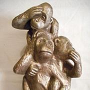 Hear No Evil See No Evil Vintage Monkeys