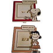 Snoopy & Lucy Miniature Vintage Frames