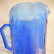 Shirley Temple Blue Glass Pitcher