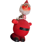 Santa Vintage Nodder Candy Container