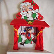 Santa Dancing Marionette Wooden Music Box