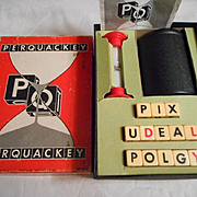 Perquackey Bakelite Dice Vintage Game