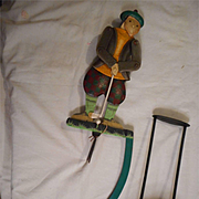 "Golfer 22"" Sky Hook Tin Metal Teeter Totter Balance Toy"