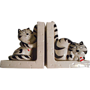 Tom Cat Takahashi Ceramic Bookends