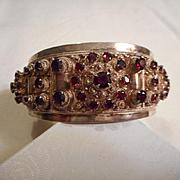 Sterling Silver Garnet Vintage 950 Bracelet