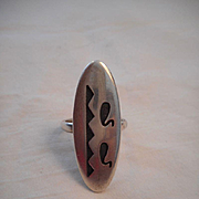 Sterling Silver Vintage Hopi Ring