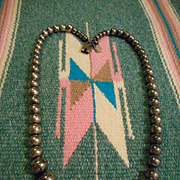 Sterling Silver Hand Made Beaded Vintage Necklace