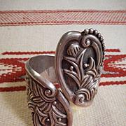 Sterling Silver Vintage Hinge Bracelet