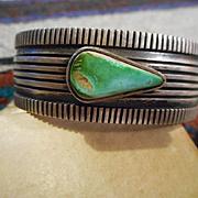 Sterling Silver & Turquoise Navajo Bracelet