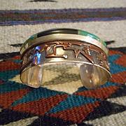 Sterling Silver Overlay Copper Vintage Bracelet