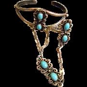 Sterling Silver Vintage Slave Bracelet
