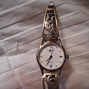 Sterling Silver Kokopelli Vintage Watch