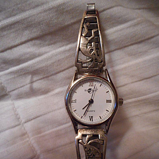 Sterling Silver Kokopelli Vintage Watch