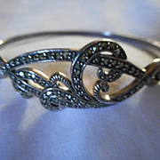 Sterling Silver Marcasite Bracelet Cuff