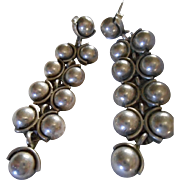 Sterling Silver Beaded Dangle Earrings