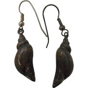 Sterling Silver Seashell Vintage Earrings
