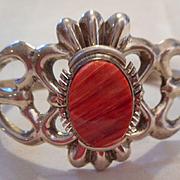 Sterling Silver Spiny Oyster Sandcast Bracelet