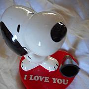 Snoopy I Love You Porcelain Pen Holder