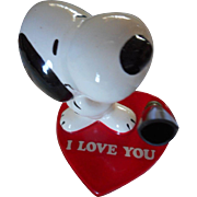 Snoopy I Love You Porcelain Pen Holder