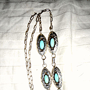 Sterling Silver Turquoise Vintage Necklace