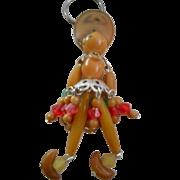 Celluloid  Beaded Vintage Key Chain